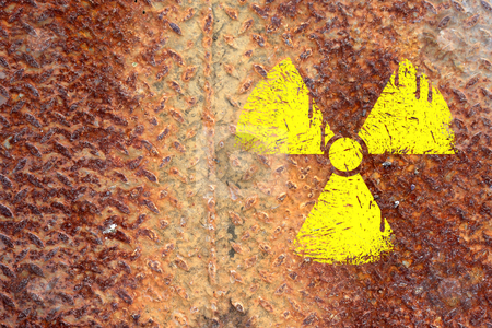 Nuclear danger warning background  stock photo, nuclear danger warning background by rufous