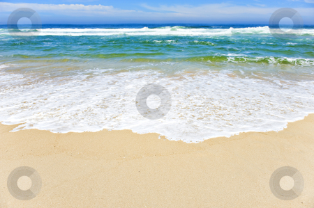 Open beach on a tropical island stock photo, Open beach on a tropical island with sky by tish1