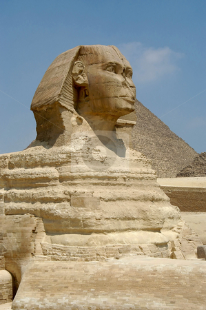 Sphinx stock photo, Sphinx at Giseh, Cairo, Egypt by Albo