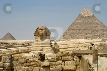 Pyramids and Sphinx stock photo, Pyramids and Sphinx, Cairo, Egypt                  by Albo