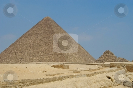 Micerino pyramid stock photo, Micerino pyramid, Cairo, Egypt          by Albo