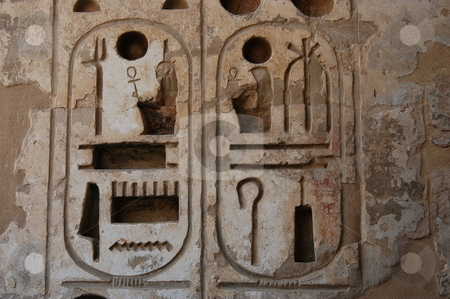 Hieroglyphics stock photo, Egyptian hieroglyphics by Albo