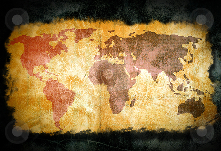 Old world map  stock photo, Old world map by rufous