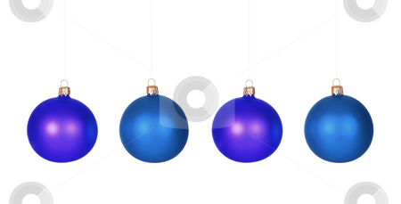 Ornament balls  stock photo, details four ornament balls on white background by vladacanon1