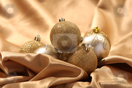 Ornament balls stock photo, details of golden ornament balls by vladacanon1