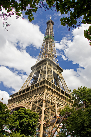 Paris France Eiffel Tower Pictures on Eiffel Tower  Paris  France Stock Photo  Eiffel Tower And Blue Sky