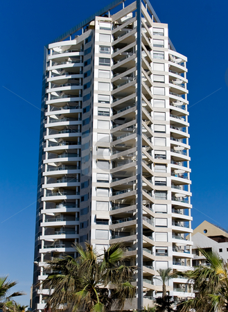 Modern buildings in Bat-Yam stock photo, Architecture modern building in Bat-Yam, Israel by Tatjana Keisa