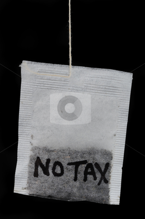 No new tax. stock photo, Tea party ,no tax. by WScott
