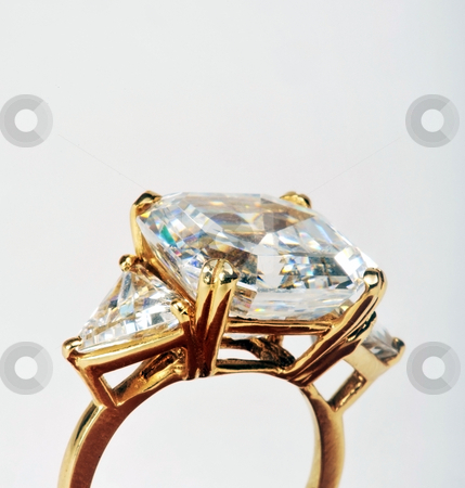 Large Diamond Ring. stock photo, Large diamond rings are girls best friend. by WScott