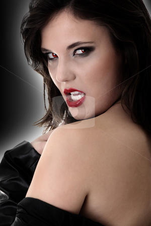 Female vampire  stock photo, Portrait of a female vampire  by Piotr_Marcinski
