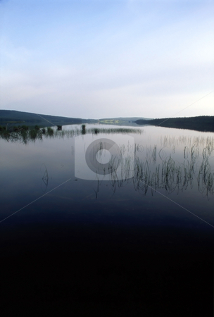 Mountain lake stock photo, Mountain lake,blue sky and clean water by Ingvar Bjork