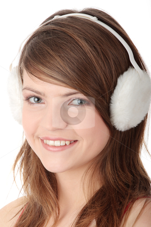 cutcaster photo 800975953 Pretty teen girl wearing white earmuff I'm not ashamed to admit that I'm in love with this teen glamour model's ass ...