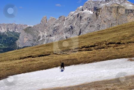 Alpine mountains stock photo, Alpine mountains in the spring, Dolomites heritage humanity by freeteo