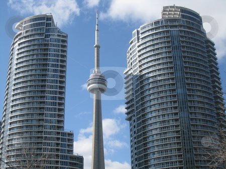 CN Tower in Toronto stock photo, CN Tower in Toronto, Canada by Ritu Jethani