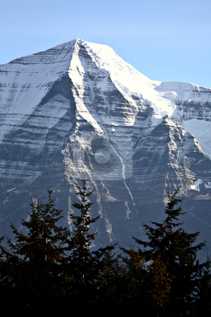 Mount Robson in beautiful British Columbia stock photo, Mount Robson in beautiful British Columbia by Mark Duffy