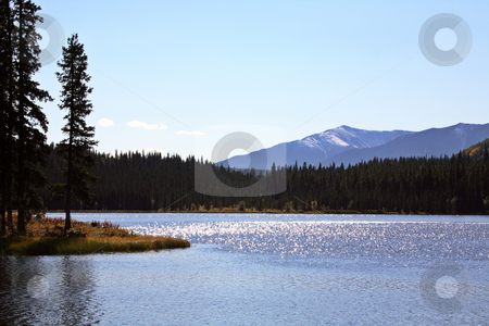 Twin Lakes in scenic Alberta stock photo, Twin Lakes in scenic Alberta by Mark Duffy