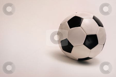 Soccer Ball stock photo, Soccer ball on white background with room for your type. by WScott