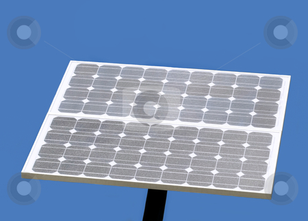 Solar panel stock photo, solar panel with sky blue background by JOSEPH S.L. TAN MATT