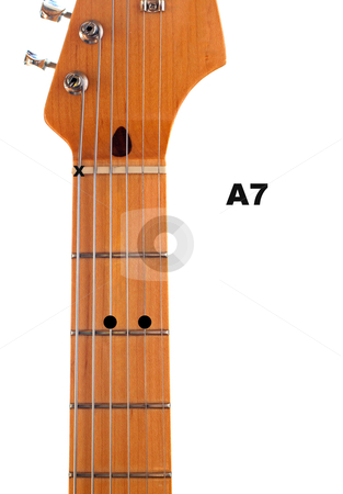 Guitar guitar chords a7 : A7 Guitar Chord Diagram stock photo