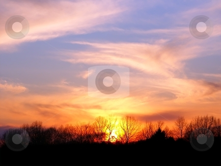 Central Illinois Sunset stock photo, A spectacular sunset at Forest Glen Nature Preserve in central Illinois. by Jason Ross