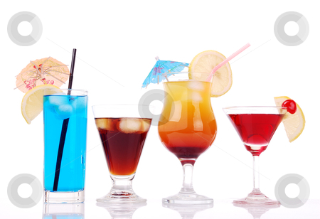 Colorful cocktails  stock photo, Colorful cocktails collection by sutike
