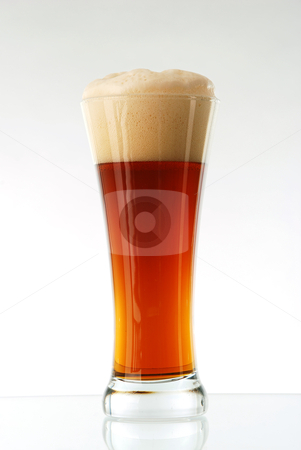 Glass of beer  stock photo, Glass of beer close-up with froth  by sutike