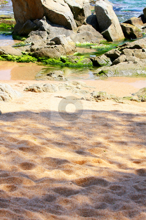 Beach in Lloret de Mar (Spain) stock photo, Costa Brava beach in Lloret de Mar (Spain) by vladacanon1