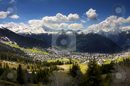 Verbier, Switzerland stock photo, details of skiing resort, Swiss Alps, Verbier, Switzerland by vladacanon1