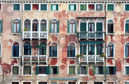 Old houses in Venice, Italy stock photo, details shot of building, old houses in Venice, Italy by vladacanon1