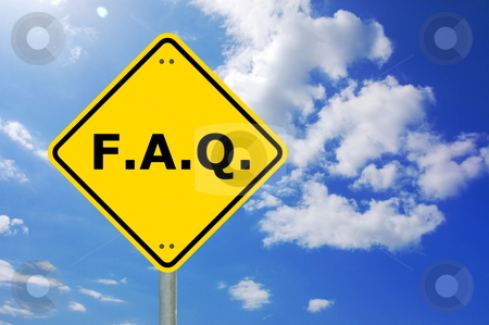 Faq sign stock photo, faq written on yellow road sign with copyspace                                    by Gunnar Pippel