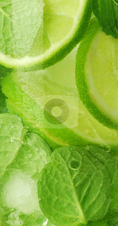 Mojito cocktail stock photo, Mojito extreme colseup shot by bakelyt
