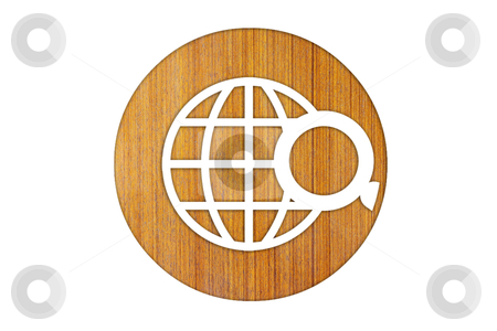 Icon Search wood stock photo, icon Search wood by rufous