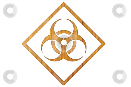 Bio-hazard symbol  stock photo, Bio-hazard symbol by rufous