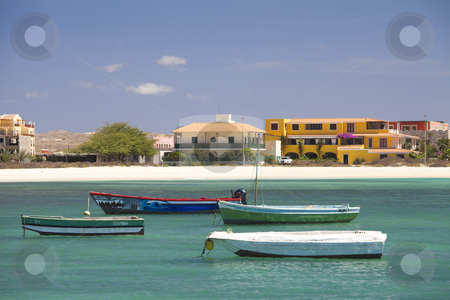 Boat stock photo, Boat in the island of Boavista in Cabo Verde by Sabino Parente