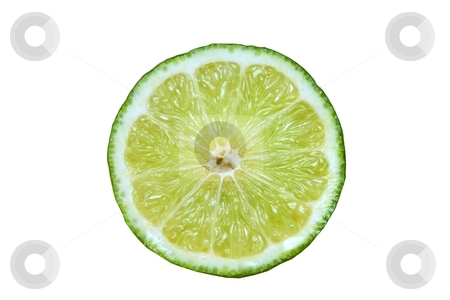 Lime stock photo, A slice of a fresh lime by Karma Shuford
