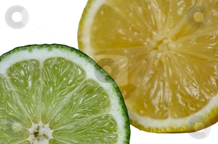 Lime and Lemon stock photo, Fresh citrus fruit by Karma Shuford