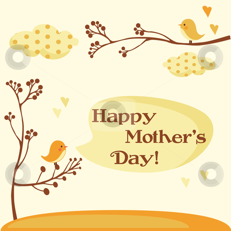Happy Mothers Day Card  stock photo, Happy Mothers Day Card vector illustration by kariiika