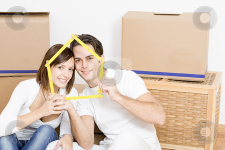 Moving home or new first home stock photo, moving home or new first home by mandygodbehear