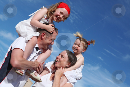Happy healthy family outdoors stock photo, happy healthy family outdoors by mandygodbehear