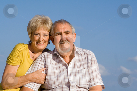 Elderly couple on vactation stock photo, elderly couple on vactation by mandygodbehear