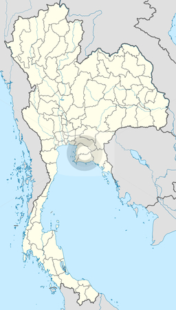 Thailand map stock photo, Illustration of country of Thailand map showing borders. by Martin Crowdy