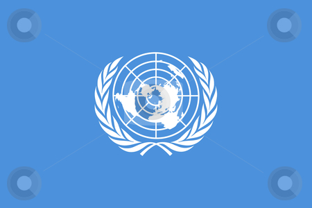 United Nations Flag stock photo, Illustration of the United Narional Flag or banner. by Martin Crowdy
