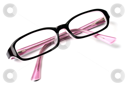 Beautiful glasses isolated on white stock photo, Beautiful glasses isolated on white background 