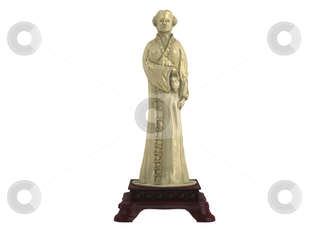 Statuette stock photo, Statuette isolated on white background by Nmorozova