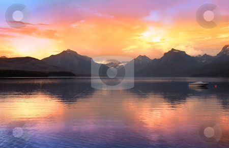 Lake McDonald stock photo, Lake McDonald largest lake in Glacier national park by Sreedhar Yedlapati