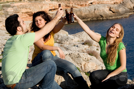 Underage teens drinking alcohol stock photo, underage teens drinking alcohol by mandygodbehear