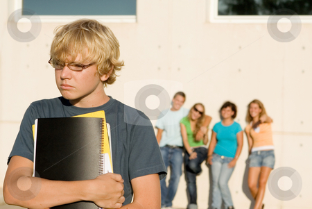 School bully, group bullying lonley kid stock photo, school bully, group bullying lonley kid by mandygodbehear
