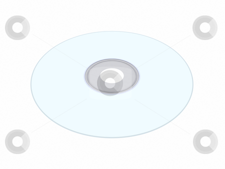 Compact Disc stock photo, 3D Illustration. Isolated on white.  by Michael Osterrieder