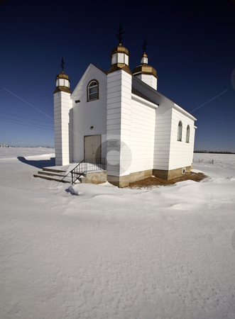 Ukranian Orthodox Church at Drifting River, Manitoba, Canada stock photo, Ukranian Orthodox Church at Drifting River, Manitoba, Canada by Mark Duffy