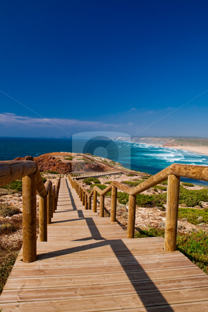 Beautiful beach stock photo, landscape picture of a beautiful european beach by ikostudio